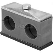 "Buyers Twin Series Clamp For Tubing, Tsct062, 5/8"" Id - Min Qty 9"