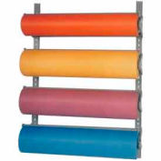 "Horizontal Wall-Mount Paper Dispenser With Cutter for 36""W x 9"" Diameter Rolls, 4 Roll Capacity"