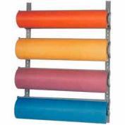 "Bulman Products Horizontal Paper Dispenser w/ Cutter, 38-1/4""W x 8-1/2""D x 51""H, Gray"