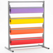 """Horizontal Paper Dispenser With Cutter for 36""""W x 9"""" Diameter Rolls, 4 Roll Capacity"""