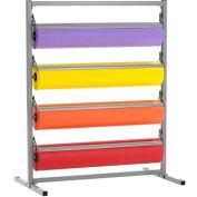 "Bulman Products Horizontal Paper Dispenser w/ Cutter, 52-1/2""W x 24""D x 49-3/4""H, Gray"