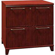 Bush Furniture Lateral File Cabinet, 2 Drawer - Harvest Cherry - Enterprise Series