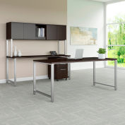 """Bush Furniture 72""""W Table Desk with Credenza Hutch and File - Mocha Cherry - 400 Series"""
