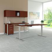 """Bush Furniture 72""""W Height Desk/Credenza/Hutch/Storage - Harvest Cherry - 400 Series"""