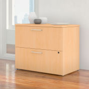 """Bush Furniture 36""""W 2 Drawer Lateral File Cabinet - Natural Maple - 400 Series"""