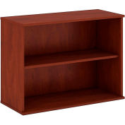 "Bush® 30""H 2 Shelf Bookcase Hansen Cherry"