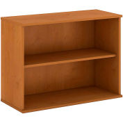"Bush® 30""H 2 Shelf Bookcase Natural Cherry"