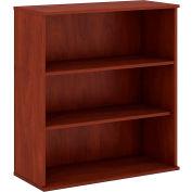 "Bush® 48""H 3 Shelf Bookcase Hansen Cherry"