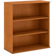 "Bush® 48""H 3 Shelf Bookcase Natural Cherry"