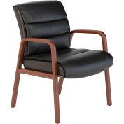 Bush Furniture Guest Chair - Leather - Black/Cherry - Soft Sense Series