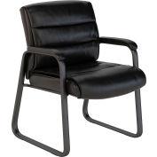 Bush Furniture Guest Chair - Leather - Black -  Soft Sense Series