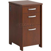 Envoy Collection Three-Drawer Pedestal, Hansen Cherry Finish