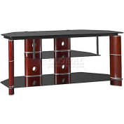 "Segments 50"" Corner TV Stand Rosebud Cherry"