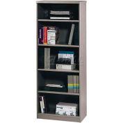 "Series A Pewter Bookcase - 19-1/2"" Deep - 5 Shelf"
