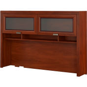 Bush Furniture Tuxedo Hutch for L Shaped Desk in Hansen Cherry