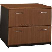 Bush Furniture Lateral File Cabinet (Unassembled) - Walnut - Series A