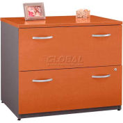 Bush Furniture Lateral File Cabinet, 2 Drawer with Double Handle Pulls - Auburn Maple - Series C