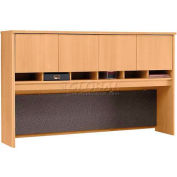 "Series C Light Oak 72"" Hutch 4 Door"