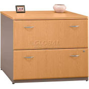 Bush Furniture Lateral File Cabinet (Unassembled) - Light Oak - Series A