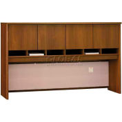 "Series C Warm Oak 72"" Hutch 4 Door"