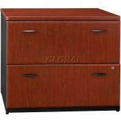 Bush Furniture 2 Drawer Lateral File Cabinet (Unassembled) - Hansen Cherry - Series A