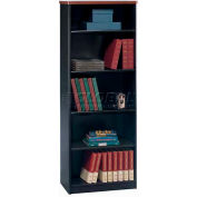 "Bush Furniture Bookcase with 5 Shelves - 26"" - Hansen Cherry - Series A"