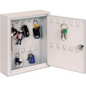 Sandusky Buddy 0128-32 - 28 Hook Key Cabinet - Platinum