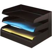 Classic™ 3 Tier Letter Size Horizontal Desk Tray - Black
