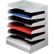 Classic™ 6 Tier Letter Size Horizontal Desk Tray - Platinum