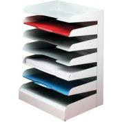 Classic™ 7 Tier Letter Size Horizontal Desk Tray - Platinum