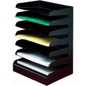 Classic™ 7 Tier Letter Size Horizontal Desk Tray - Black