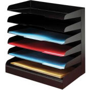 Classic™ 6 Tier Legal Size Horizontal Desk Tray - Black