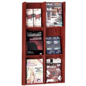 6 Pocket Literature or 12 Pocket Brochure Rack - Mahogany