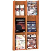6 Pocket Literature or 12 Pocket Brochure Rack - Medium Cherry