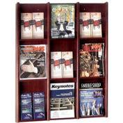 9 Pocket Literature or 18 Pocket Brochure Rack - Mahogany