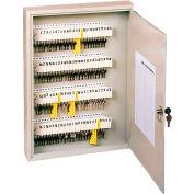"Sandusky Buddy 100-Key Tag Sloted Key Cabinet 1100-6 - Keyed Lock - 16""W x 3""D x 22""H, Putty"