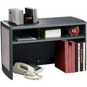 "30"" Metal Desk Space Saver - Platinum and Graphite"