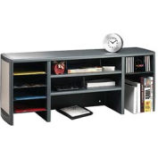 "47"" Metal Desk Space Saver - Platinum and Graphite"