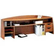 "58"" Wood Desk Space Saver - Medium Oak"