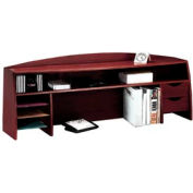 "58"" Wood Desk Space Saver - Mahogany"