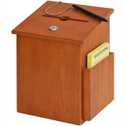 Wood Suggestion Box - Medium Oak