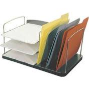 6 Pocket Desk Combo Tray - Charcoal