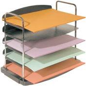 5 Pocket Horizontal Desk Tray - Charcoal