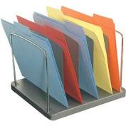 5 Pocket Vertical Desk Tray - Charcoal