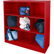 Sandusky Cubbie Storage Organizer - 9 Sections - Red