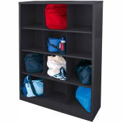 Sandusky Cubbie Storage Organizer - 12 Sections - Black
