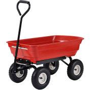 Sandusky® Poly Dump Wagon PW3720R 20 x 20 - 550 Lb. Capacity