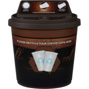Busch Systems Coffee Cup Collector - 27 Gallons - Brown - 101472