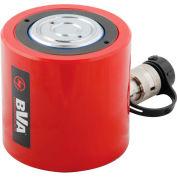 """BVA Hydraulics Low Profile Hydraulic Cylinder HL5002, 50 Ton, 2.36"""" Stroke"""