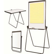 MasterVision Foldable Dry Erase Easel/Table, Black Frame